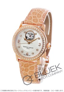 フレデリックコンスタント ハートビート ダイヤ アリゲーターレザー 腕時計 レディース FREDERIQUE CONSTANT 310HBAD2PD4