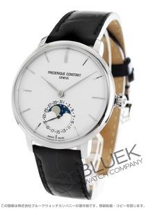 フレデリックコンスタント マニュファクチュール スリムライン ムーンフェイズ アリゲーターレザー 腕時計 メンズ FREDERIQUE CONSTANT 703S3S6