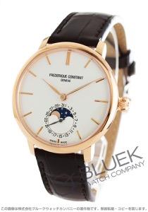 フレデリックコンスタント マニュファクチュール スリムライン ムーンフェイズ アリゲーターレザー 腕時計 メンズ FREDERIQUE CONSTANT 703V3S4
