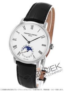 フレデリックコンスタント マニュファクチュール スリムライン ムーンフェイズ アリゲーターレザー 腕時計 メンズ FREDERIQUE CONSTANT 705WR4S6