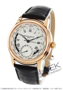 フレデリックコンスタント マニュファクチュール GMT アリゲーターレザー 世界限定1888本 腕時計 メンズ FREDERIQUE CONSTANT 718MC4H4