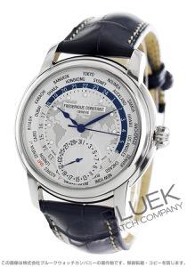 フレデリックコンスタント マニュファクチュール ワールドタイマー GMT アリゲーターレザー 腕時計 メンズ FREDERIQUE CONSTANT 718WM4H6