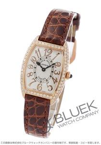 フランクミュラー トノーカーベックス レリーフ ダイヤ PG金無垢 クロコレザー 腕時計 レディース FRANCK MULLER 1752 QZ D RELIEF