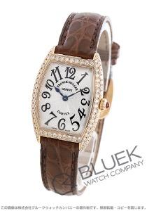 フランクミュラー トノーカーベックス ダイヤ PG金無垢 クロコレザー 腕時計 レディース FRANCK MULLER 1752 QZ D