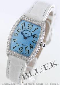 フランクミュラー トノーカーベックス ダイヤ WG金無垢 クロコレザー 腕時計 レディース FRANCK MULLER 1752 QZ D