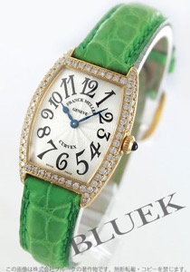 フランクミュラー トノーカーベックス ダイヤ YG金無垢 クロコレザー 腕時計 レディース FRANCK MULLER 1752 QZ D