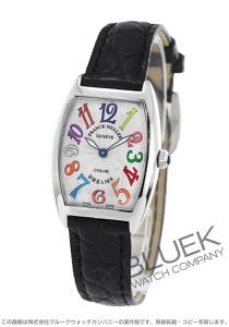 フランクミュラー トノーカーベックス カラードリームズ クロコレザー 腕時計 レディース FRANCK MULLER 1752 QZ COL DRM