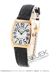 フランクミュラー トノーカーベックス PG金無垢 クロコレザー 腕時計 レディース FRANCK MULLER 1752 QZ[FM1752QZPGSLLZBK]