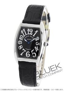 フランクミュラー トノーカーベックス クロコレザー 腕時計 レディース FRANCK MULLER 1752 QZ[FM1752QZSSBKLZBK]