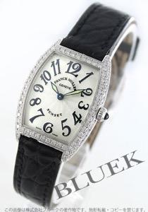 フランクミュラー トノーカーベックス サンセット ダイヤ WG金無垢 クロコレザー 腕時計 レディース FRANCK MULLER 1752 QZ D SUN
