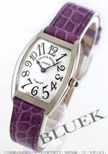 フランクミュラー トノーカーベックス WG金無垢 クロコレザー 腕時計 レディース FRANCK MULLER 1752 QZ