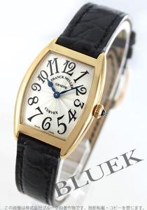 フランクミュラー トノーカーベックス YG金無垢 クロコレザー 腕時計 レディース FRANCK MULLER 1752 QZ
