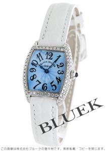 フランクミュラー トノーカーベックス インターミディエ ダイヤ WG金無垢 クロコレザー 腕時計 レディース FRANCK MULLER 2250 QZ D