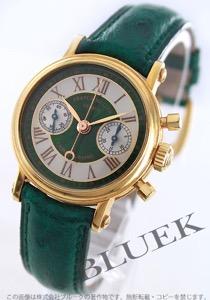 フランクミュラー ラウンド クロノグラフ YG金無垢 オーストリッチレザー 腕時計 レディース FRANCK MULLER 2860 NA