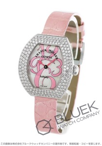 フランクミュラー インフィニティ カーベックス ダイヤ WG金無垢 クロコレザー 腕時計 レディース FRANCK MULLER 3530 QZ A D3[FM3530QZ3DWGMOPENPPK]