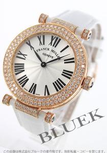 フランクミュラー ラウンド ダイヤ PG金無垢 クロコレザー 腕時計 メンズ FRANCK MULLER 4200 QZ R D2