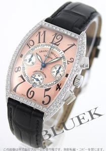 フランクミュラー トノーカーベックス クロノグラフ ダイヤ WG金無垢 クロコレザー 腕時計 ユニセックス FRANCK MULLER 5850 CC QZ D
