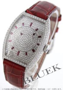 フランクミュラー トノーカーベックス ダブルミステリー ダイヤ WG金無垢 クロコレザー 腕時計 メンズ FRANCK MULLER 5850