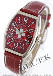 フランクミュラー トノーカーベックス クレイジーアワーズ WG金無垢 クロコレザー 腕時計 ユニセックス FRANCK MULLER 5850 CH