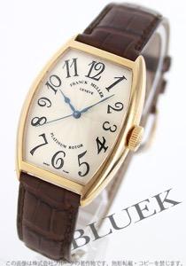 フランクミュラー トノーカーベックス プラチナローター YG金無垢 クロコレザー 腕時計 ユニセックス FRANCK MULLER 5850 SC