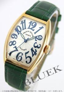 フランクミュラー トノーカーベックス サンセット YG金無垢 クロコレザー 腕時計 ユニセックス FRANCK MULLER 5850 SC