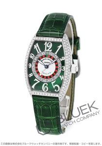 フランクミュラー トノーカーベックス ヴェガス ダイヤ WG金無垢 クロコレザー 腕時計 メンズ FRANCK MULLER 5850 VEGAS D