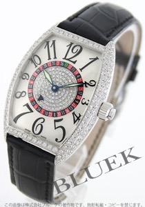 フランクミュラー トノーカーベックス ヴェガス ダイヤ WG金無垢 クロコレザー 腕時計 ユニセックス FRANCK MULLER 5850
