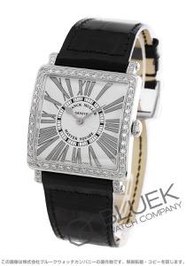 フランクミュラー マスタースクエア レリーフ ダイヤ クロコレザー 腕時計 レディース FRANCK MULLER 6002 M B QZ REL R D 1R[FM6002MQZDSSSLENBKR]