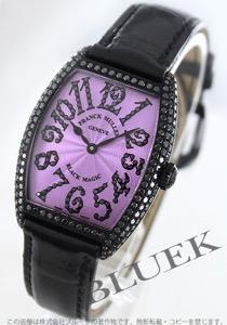 フランクミュラー トノーカーベックス ブラックマジック ダイヤ WG金無垢 クロコレザー 腕時計 ユニセックス FRANCK MULLER 7502 QZ D