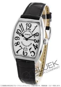 フランクミュラー トノーカーベックス プラチナローター クロコレザー 腕時計 メンズ FRANCK MULLER 7851 SC DT[FM7851SCPRSSSLENBK]