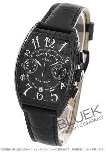 フランクミュラー トノーカーベックス ブラッククロコ クロノグラフ クロコレザー 腕時計 メンズ FRANCK MULLER 7880 CC AT BLK CRO