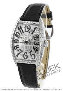 フランクミュラー トノーカーベックス アイアンクロコ クロコレザー 腕時計 メンズ FRANCK MULLER 7880 SC IRON CRO[FM7880SCICSSSLENBK]