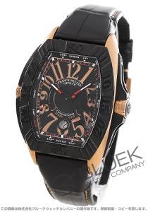 フランクミュラー コンキスタドール グランプリ クロコレザー 腕時計 メンズ FRANCK MULLER 8900 SC DT GPG TT NR 5N[FM8900SCTIPGBKLZBK]