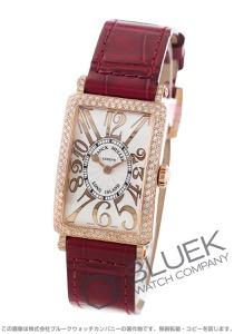 フランクミュラー ロングアイランド レリーフ ダイヤ PG金無垢 クロコレザー 腕時計 レディース FRANCK MULLER 902 QZ REL D