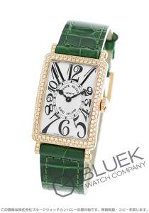 フランクミュラー ロングアイランド ダイヤ PG金無垢 クロコレザー 腕時計 レディース FRANCK MULLER 902 QZ D