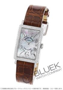 フランクミュラー ロングアイランド レリーフ ダイヤ クロコレザー 腕時計 レディース FRANCK MULLER 902 QZ REL MOP D