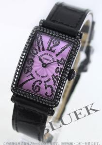 フランクミュラー ロングアイランド ブラックマジック ダイヤ WG金無垢 クロコレザー 腕時計 レディース FRANCK MULLER 902 QZ D