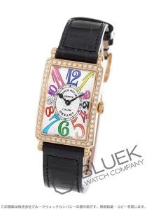 フランクミュラー ロングアイランド カラードリーム ダイヤ PG金無垢 クロコレザー 腕時計 レディース FRANCK MULLER 902 QZ COL DRM D 1R