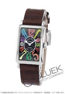 フランクミュラー ロングアイランド カラードリーム クロコレザー 腕時計 レディース FRANCK MULLER 902 QZ COL DRM[FM902QZCDSSBKLZBR]