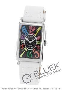 フランクミュラー ロングアイランド カラードリーム クロコレザー 腕時計 レディース FRANCK MULLER 902 QZ COL DRM[FM902QZCDSSBKLZWH]