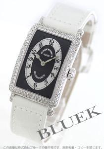 フランクミュラー ロングアイランド クロノメトロ ダイヤ WG金無垢 クロコレザー 腕時計 レディース FRANCK MULLER 902 QZ D