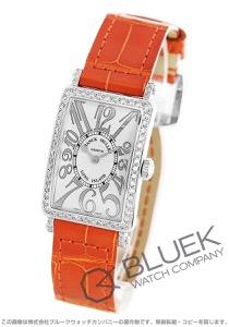 フランクミュラー ロングアイランド レリーフ ダイヤ クロコレザー 腕時計 レディース FRANCK MULLER 902 QZ REL D 1R