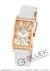 フランクミュラー ロングアイランド レリーフ PG金無垢 クロコレザー 腕時計 レディース FRANCK MULLER 902 QZ REL MOP