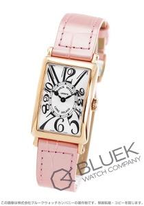 フランクミュラー ロングアイランド PG金無垢 クロコレザー 腕時計 レディース FRANCK MULLER 902 QZ[FM902QZPGSLENPPK]