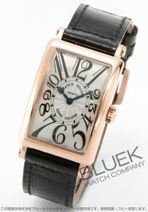 フランクミュラー ロングアイランド PG金無垢 クロコレザー 腕時計 レディース FRANCK MULLER 902 QZ