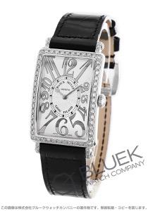フランクミュラー ロングアイランド レリーフ ダイヤ クロコレザー 腕時計 レディース FRANCK MULLER 952 QZ REL D 1R[FM952QZDSSSLENBKR]