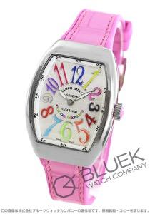 フランクミュラー ヴァンガード レディ カラードリーム クロコレザー 腕時計 レディース FRANCK MULLER V32 QZ COL DRM AC RS