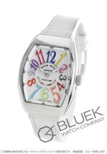 フランクミュラー ヴァンガード レディ カラードリーム クロコレザー 腕時計 レディース FRANCK MULLER V 32 QZ COL DRM[FMV32QZCDSSSLLZWH]