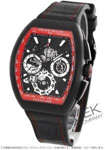 フランクミュラー ヴァンガード グランデイト クロノグラフ クロコレザー 腕時計 メンズ FRANCK MULLER V45 CC GD SQT TT NR BR NR