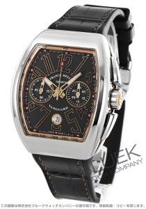 フランクミュラー ヴァンガード クロノグラフ クロコレザー 腕時計 メンズ FRANCK MULLER V 45 CC DT AC 5N[FMV45CCPLSSPGBKLZBK]